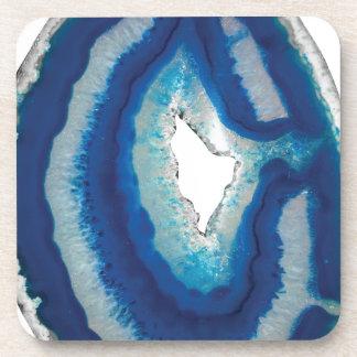 Blue Agate Beverage Coasters