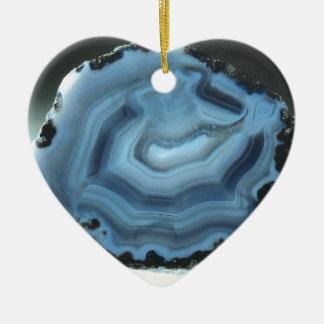 Blue Agate Ceramic Ornament
