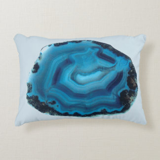Blue Agate Decorative Pillow