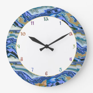 Blue Agate Slab Clock