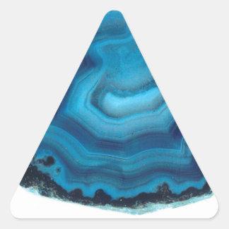 Blue Agate Triangle Sticker
