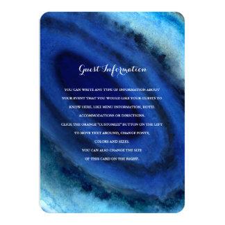 Blue Agate Wedding Insert Card