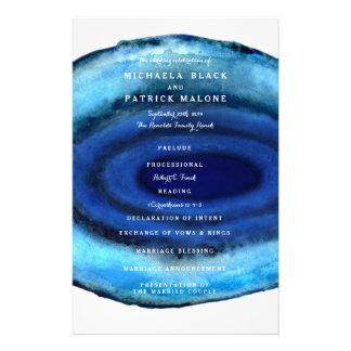 Blue Agate Wedding Programs Full Colour Flyer