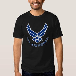 Blue Air Force Logo & Name T Shirts