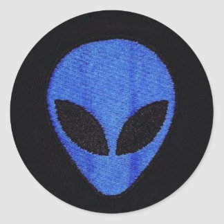 Blue Alien face stickers