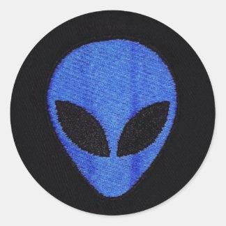 Blue Alien face stickers