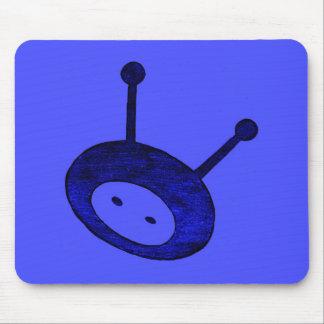Blue Alien Mouse Pad