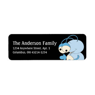 Blue Alien Outer Space Fun Address Labels d1