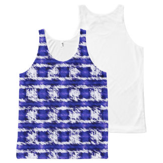 Blue All-Over-Print Tank Top