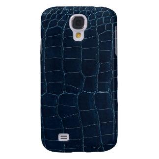 blue alligator skin galaxy s4 case
