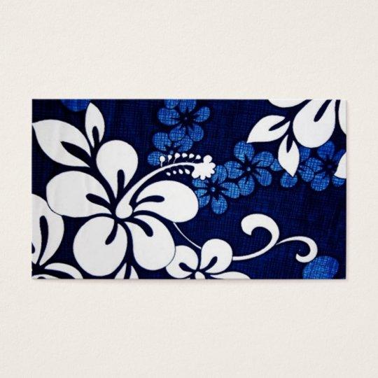 Blue Aloha Hawaii Flowers Business Card Zazzle Ca