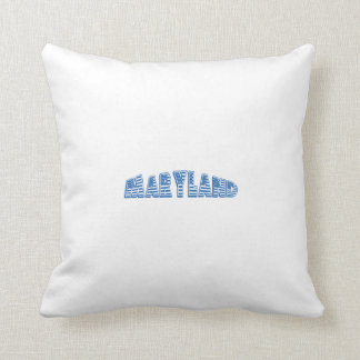 Blue American Flag Maryland Throw Pillow