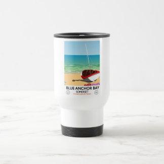Blue Anchor Bay Somerset travel poster Travel Mug