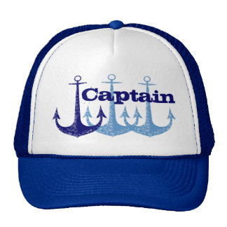 Blue anchor Captain, boy's personalized Hat