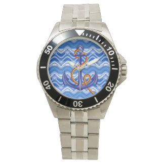 Blue Anchor Classic Stainless Steel Watch