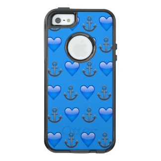 Blue Anchor Emoji iPhone SE/5/5s Otterbox Case