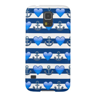 Blue Anchor Emoji Samsung Galaxy S5 Case