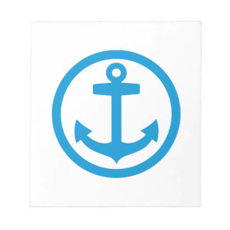 Blue anchor logo notepad