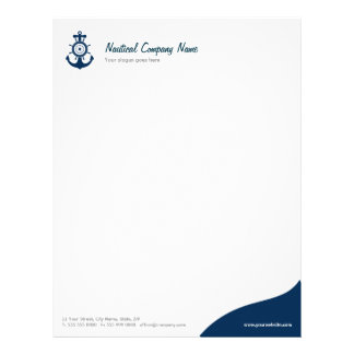 Blue Anchor Nautical letterhead
