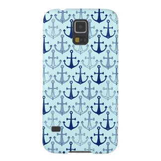 Blue Anchor Pattern Galaxy S5 Cover