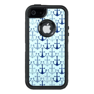 Blue Anchor Pattern OtterBox iPhone 5/5s/SE Case