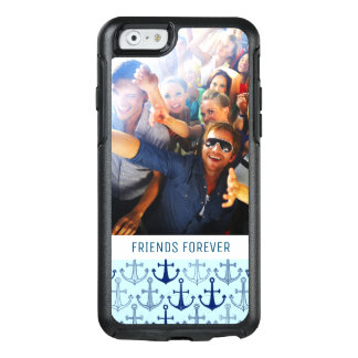Blue Anchor Pattern | Your Photo & Text OtterBox iPhone 6/6s Case