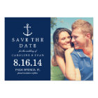 Blue Anchor Photo Wedding Save the Date Card