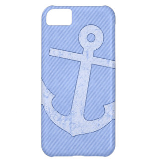 Blue Anchor Stripes Case For iPhone 5C