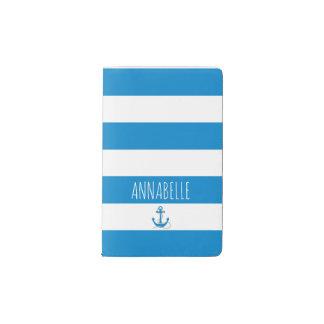 Blue Anchors Away Pocket Moleskine Notebook