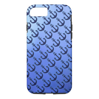blue anchors on soft-blue iPhone 7 case