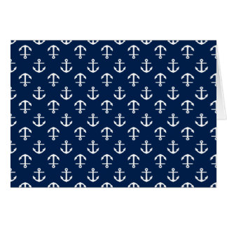 Blue Anchors Pattern Card