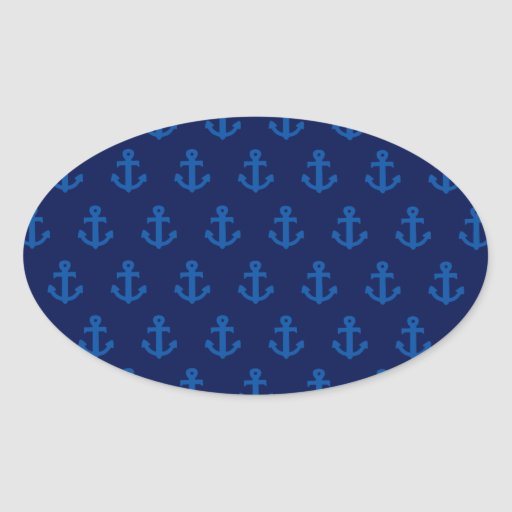 Blue Anchors Stickers