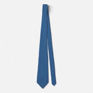 Blue and Beige Men's Tie