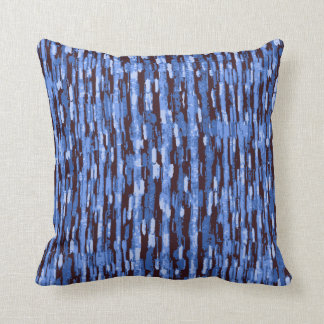Blue and Black Abstract pattern on a Pillow