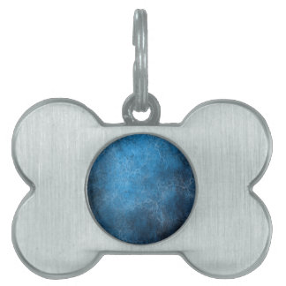 Blue And Black background Pet Tags