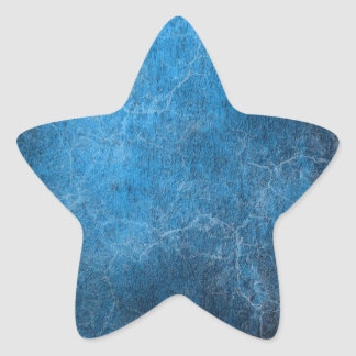 Blue And Black background Star Sticker