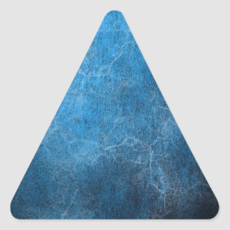 Blue And Black background Triangle Sticker