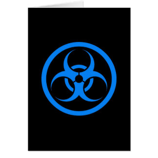 Blue and Black Bio Hazard Circle Cards