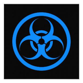 Blue and Black Bio Hazard Circle Custom Invite