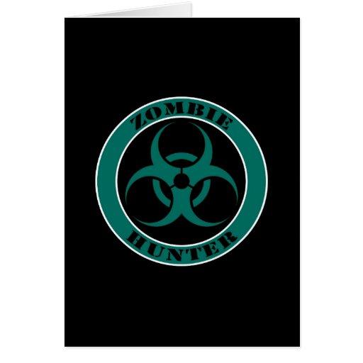 Blue and Black Bio Hazard Zombie Hunter Cards