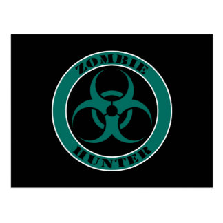 Blue and Black Bio Hazard Zombie Hunter Post Cards