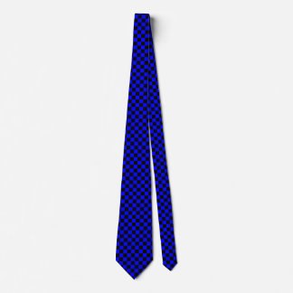 Blue and Black Checked Tie