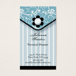 Blue and Black Clutch Business Card