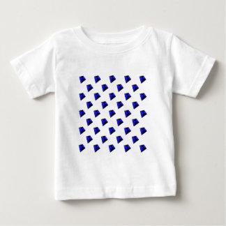 Blue and Black Diamond Kites Pattern Baby T-Shirt
