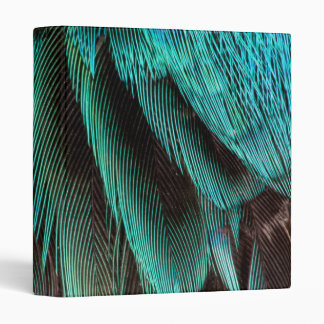 Blue And Black Feather Design Binder