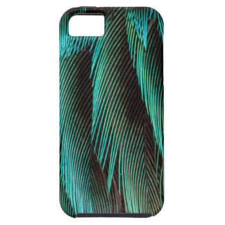 Blue And Black Feather Design Case For The iPhone 5