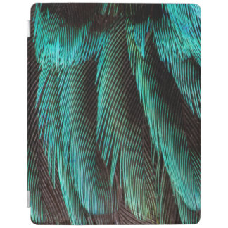 Blue And Black Feather Design iPad Cover