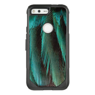 Blue And Black Feather Design OtterBox Commuter Google Pixel Case