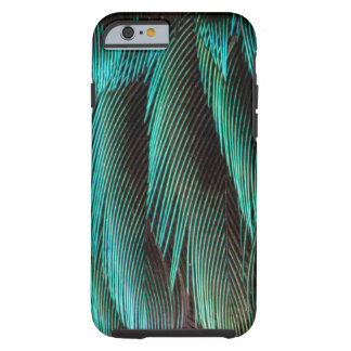 Blue And Black Feather Design Tough iPhone 6 Case