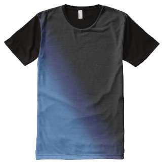Blue and Black Gradient All-Over-Print T-Shirt